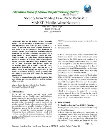 thesis on manet security