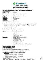 SICHERHEITSDATENBLATT - P&G Chemicals