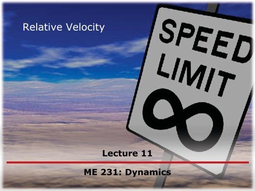 Relative Velocity Due to Rotation