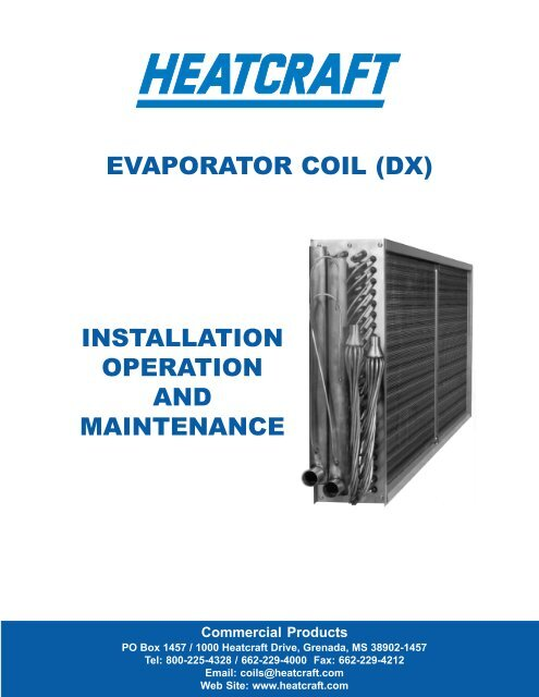 Evaporator Coil Dx Installation Operation And Absolutaire
