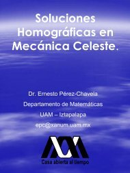 Soluciones homográficas en mecánica celest - CBI - UAM