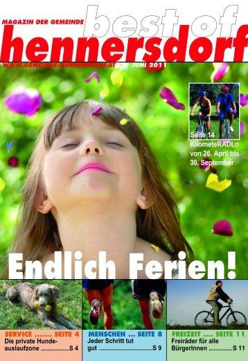 sommer 2011 ist abgesagt! - Gemeinde Hennersdorf