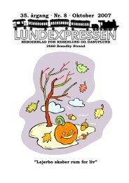 35. årgang · Nr. 8 · Oktober 2007 - lundens.net