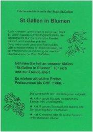 St.Gallen in Blumen