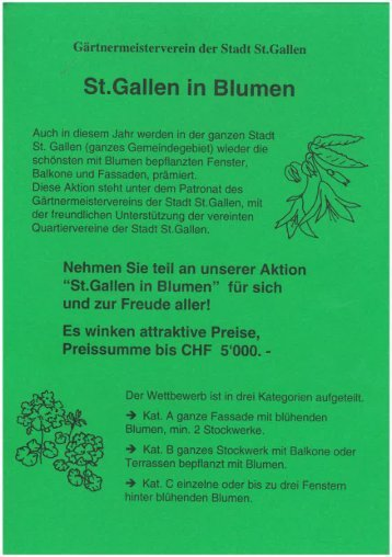St.Gallen in Blumen