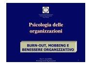 Psicologia delle organizzazioni Psicologia delle organizzazioni