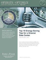 Top 10 Energy-Saving Tips for a Greener Data Center - Info-Tech ...