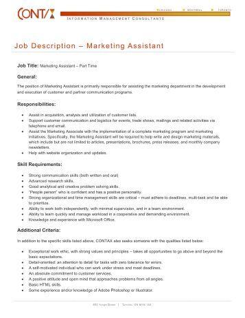 Trade Marketing Job Description Trade Marketing Teaching Cv