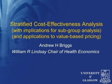 Stratified Cost-Effectiveness Analysis - MRC Network of Hubs for ...