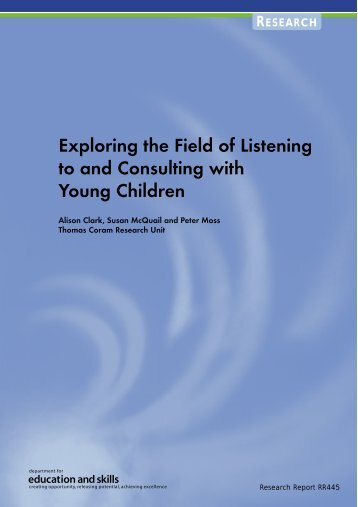 Exploring the Field of Listening to and Consulting with Young Children