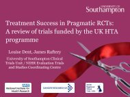 Treatment success in pragmatic RCTs: a review of trials funded by ...