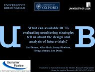 What can available RCTs evaluating monitoring strategies tell us ...