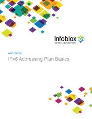 WHITEPAPER IPv6 Addressing Plan Basics - Infoblox