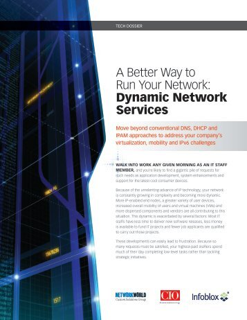 Dynamic Network Services - Infoblox