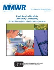 Guidelines for Biosafety Laboratory Competency - Centers for ...