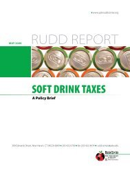 Soft Drink Taxes – A Policy Brief