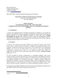 Une sélection de textes du COE – Porto Alegre ... - ISEO 2006-2007