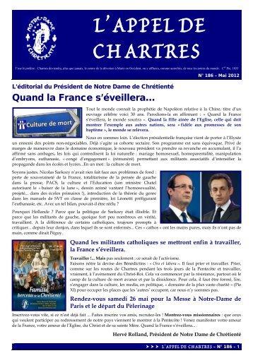 Appel de Chartres n°186 - Notre-Dame de Chrétienté