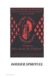 DOSSIER SPIRITUEL - Notre-Dame de Chrétienté
