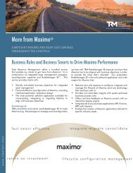 More from Maximo® - Total Resource Management