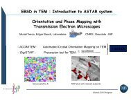 Orientation and Phase Mapping with Transmission ... - alemi.ca