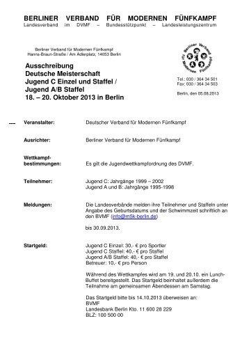 Ausschreibung - OSC Potsdam Abt. Moderner Fünfkampf