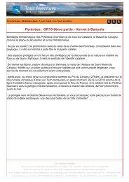 Pyrénées : GR10 8ème partie - Vernet à Banyuls - Tour aventure