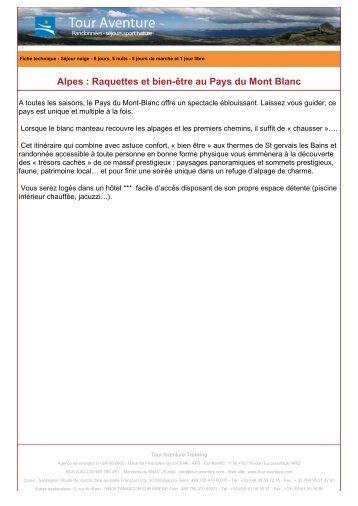 Alpes : Raquettes et bien-être au Pays du Mont Blanc - Tour aventure