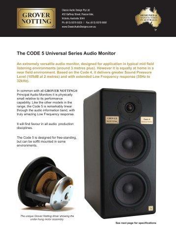 Grover Notting CODE 5 Brochure - ATT Audio Controls