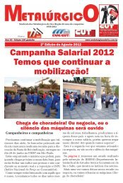 Campanha Salarial 2012 Temos que continuar a ... - CNM/CUT
