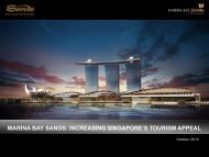 marina bay sands: increasing singapore's tourism appeal
