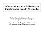 Influence of magnetic field on ferrite transformation in a Fe ... - alemi.ca