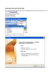 Opsætning af Microsoft Outlook 2003 For at sætte Microsoft ... - ComX