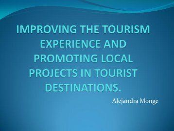 enhancing the tourism experience and promoting local projects in ...