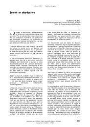 Egalité et ségrégation - Forums du Champ Lacanien