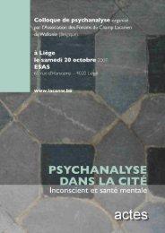 Actes - Forums du Champ Lacanien