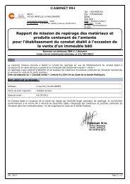 Mission de repérage des matériaux et produits contenant de l'Amiante