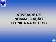 Normas Técnicas CETESB - ASEC