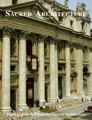 Download Issue PDF - The Institute for Sacred Architecture