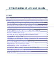 Divine Sayings of Love and Beauty - Muhyiddin Ibn Arabi Society