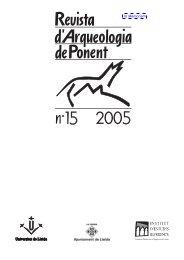 RAP 1.indd - Revista d'Arqueologia de Ponent
