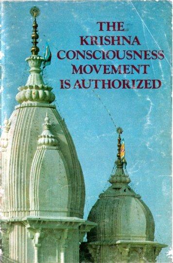 The Krishna Consciousness Movement is Authorized - Prabhupada