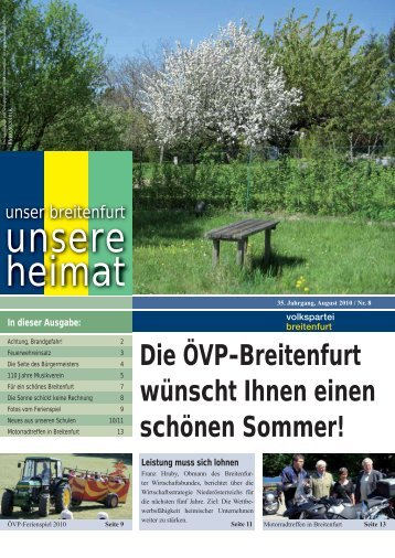 Breitenfurter Vereine - VP Breitenfurt