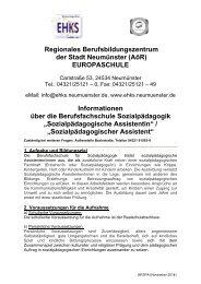 Berufsfachschule Sozialpädagogik - Elly-Heuss-Knapp-Schule