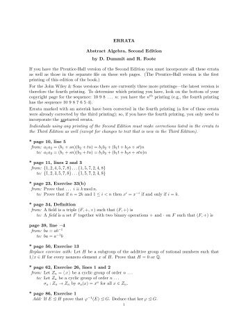 Abstract Algebra Foote Dummit Pdf Download Pdf