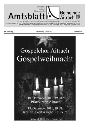 Amtliche Nachrichten - Aitrach