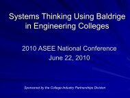 Systems Thinking Using Baldrige in Engineering ... - Squarespace