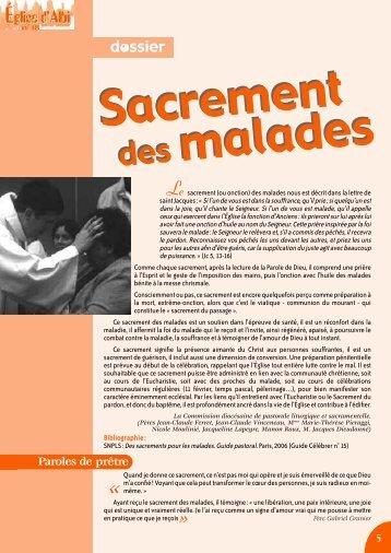 Sacrement des malades - Diocèse d'Albi