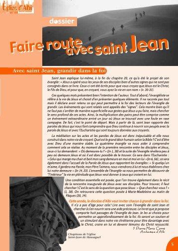 Faire route avec saint Jean - Diocèse d'Albi