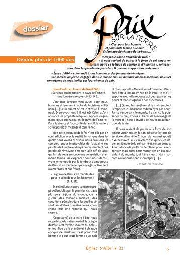 Paix sur la terre - Diocèse d'Albi
